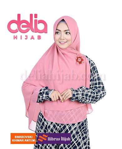 khimar nibras hijab swarovski antem baby pink