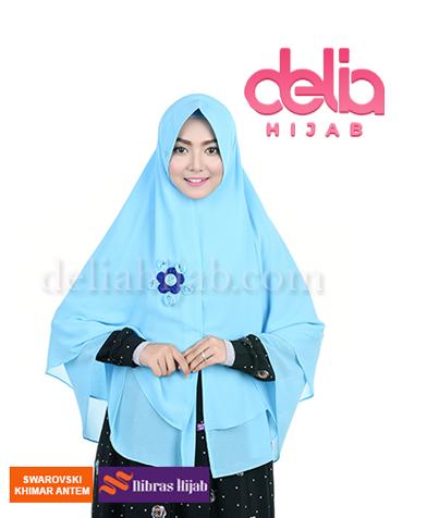khimar nibras hijab swarovski antem blue ocean
