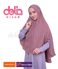 khimar nibras hijab spectro coklat
