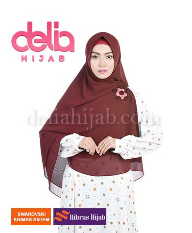 khimar nibras hijab swarovski antem coklat
