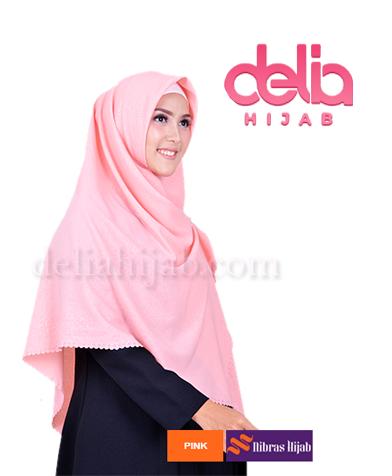 scarf nibras rinjani pon embos pink