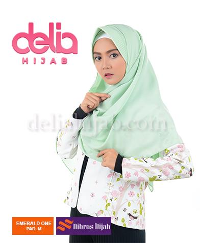 khimar nibras hijab emerald one m pad green tea