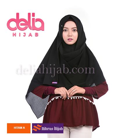 khimar nibras hijab emerald one m syria hitam