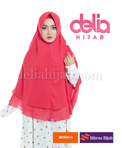 khimar nibras hijab saphire antem merah