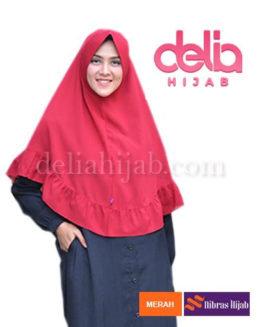 khimar nibras hijab marbela merah
