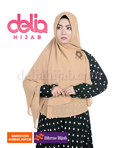 khimar nibras hijab swarovski antem mocca