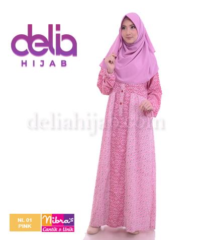 gamis nibras nL 01 pink