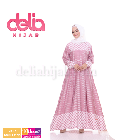 gamis nibras ns 46 dusty pink