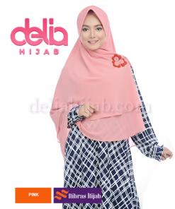 khimar nibras hijab swarovski pad pink