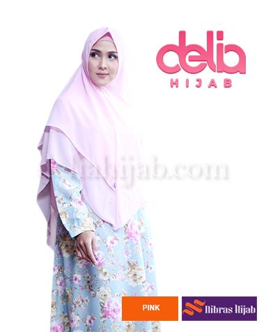 khimar nibras hijab mozaik syria pink