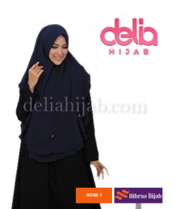khimar nibras hijab rose navy