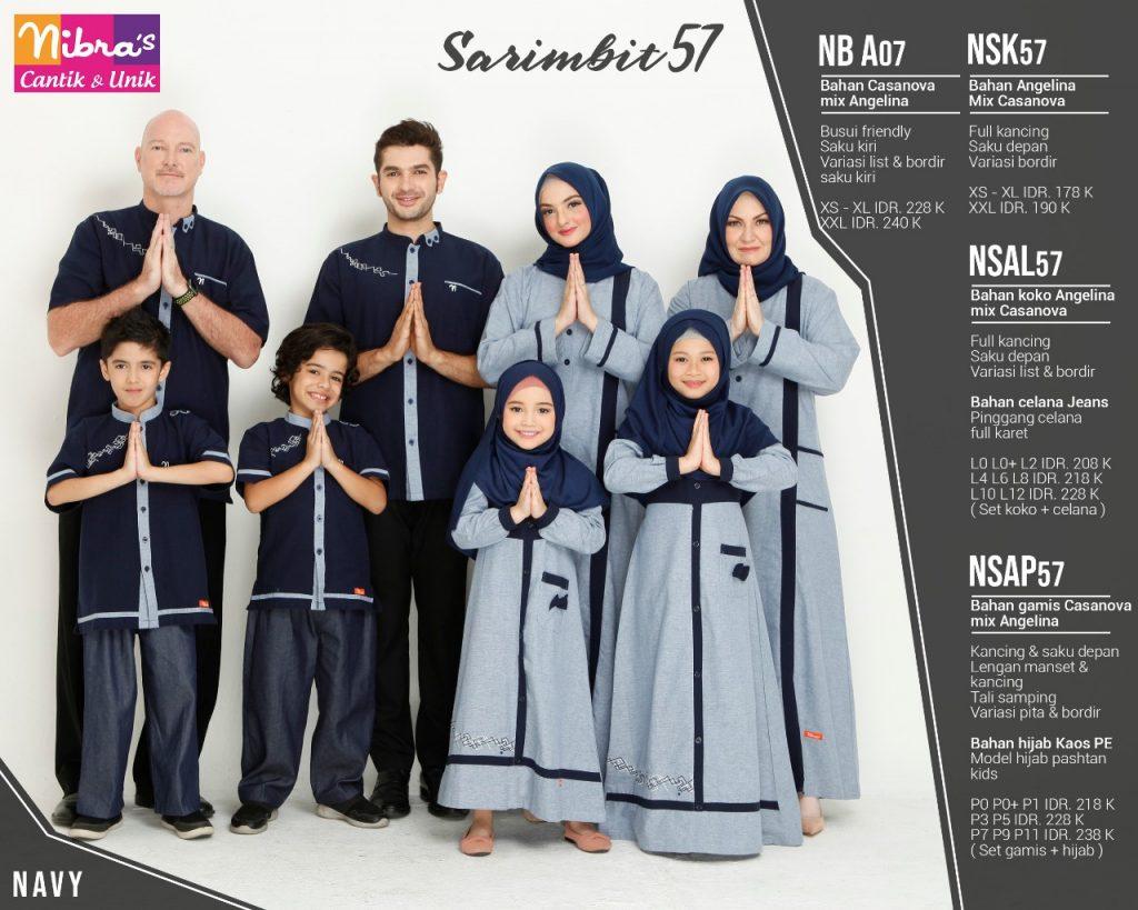 Sarimbit keluarga Nibras 57 Navy