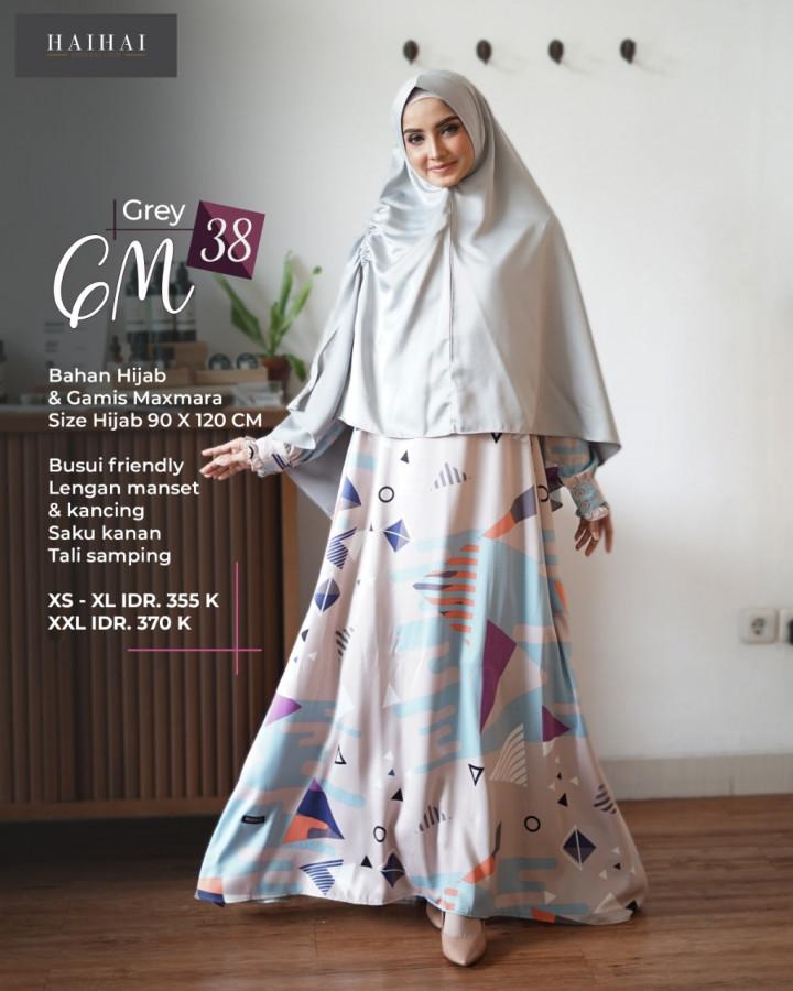Gamis Haihai Terbaru Gamis Gm 38 Delia Hijab