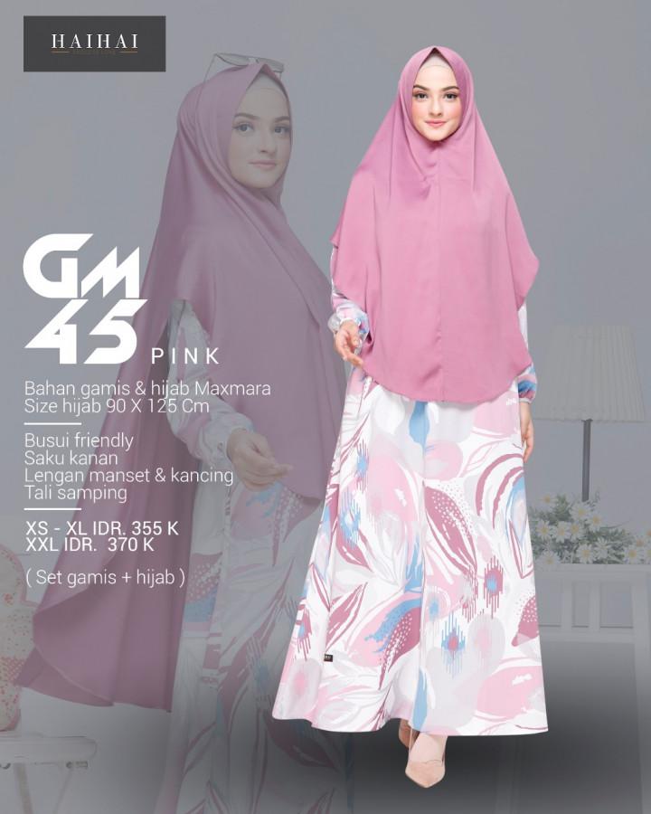 Gamis Hai Hai Terbaru Gamis Gm 45 Delia Hijab