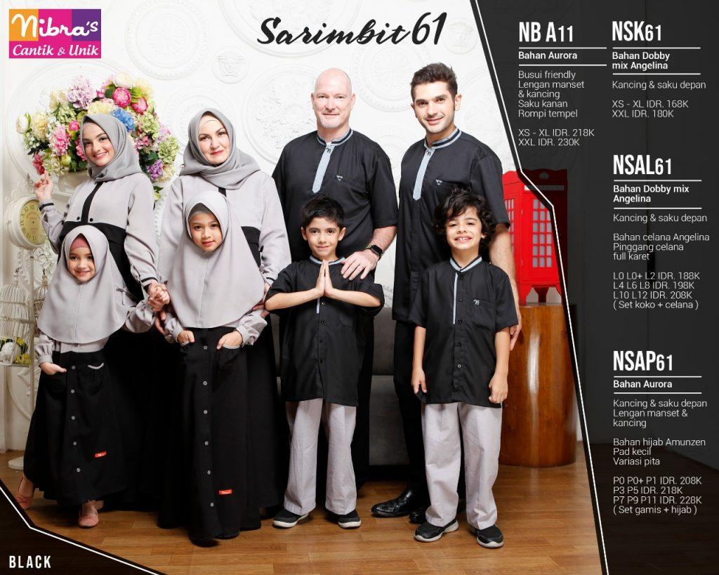 sarimbit keluarga nibras 61 hitam