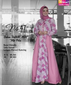 Gamis NIbras Terbaru Ns 47 Pink