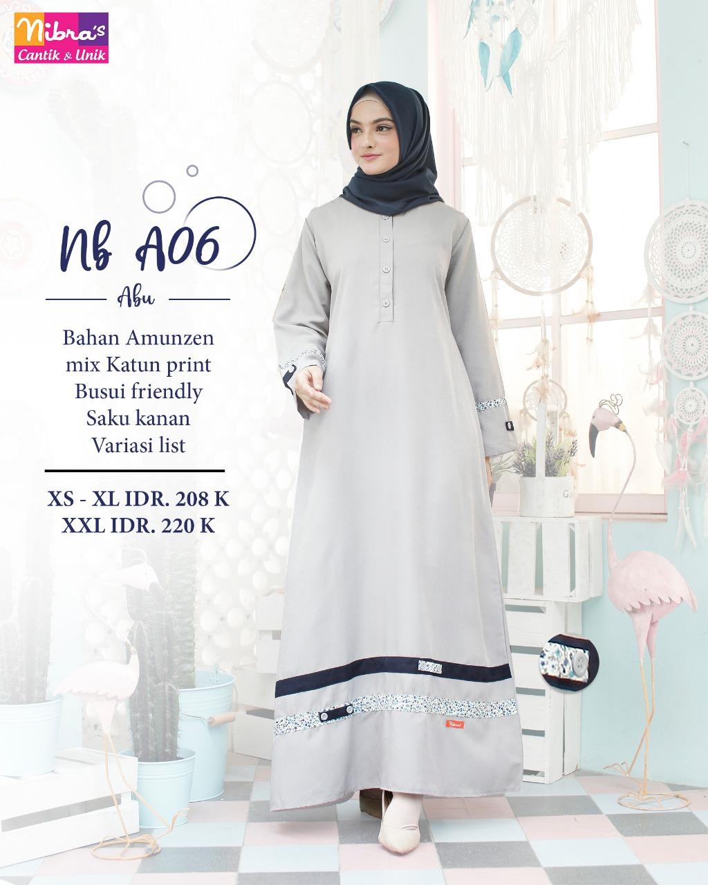 Gamis Nb A06 Gamis Nibras Terbaru Delia Hijab