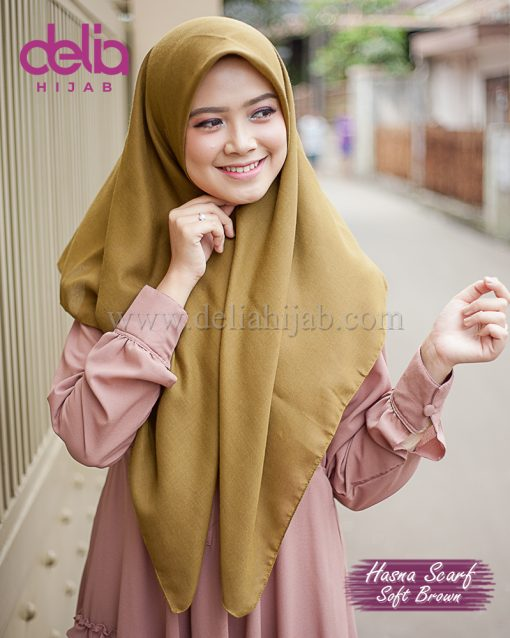 SCARF DELIA HIJAB hasna SOFT BROWN