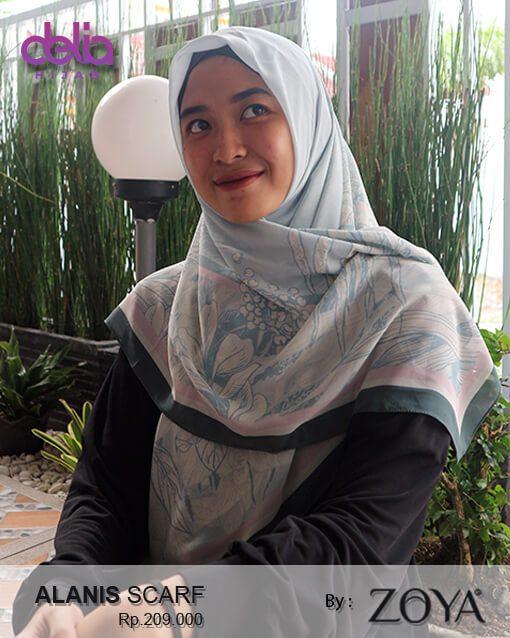 alanis scarf - hijab mewah zoya - delia hijab