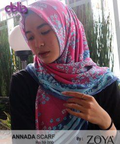annafa scarf - obral kerudung zoya motif bunga - delia hijab