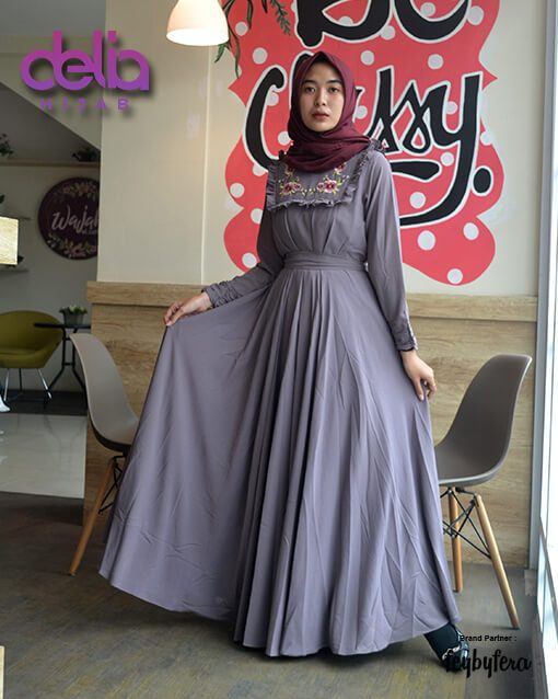 Gamis Kondangan Terbaru - Delia Hijab - Lunara Dress FeyByFera