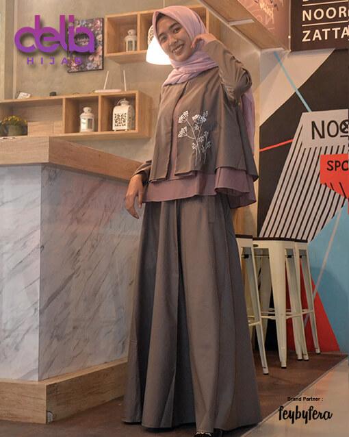 Gamis Modern Terbaru - Delia Hijab - Ryma Set FeyByFera