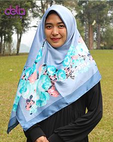 kerudung motif bunga warna abu abu - delia hijab