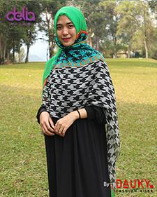 kerudung dauky pashmina motif - delia hijab
