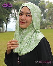 bergo motif bunga elzatta - delia hijab