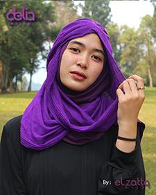 bergo instan polos ungu elzatta - delia hijab