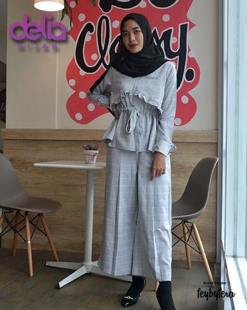 Setelan Casual Terbaru - Delia Hijab - Shanar Set FeyByFera