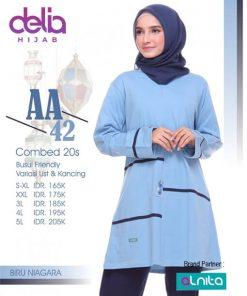 Baju Olahraga Muslim - Delia Hijab - Alnita AA 42