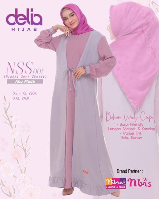 Gamis Terbaru Nibras - Delia Hijab - NSS 001