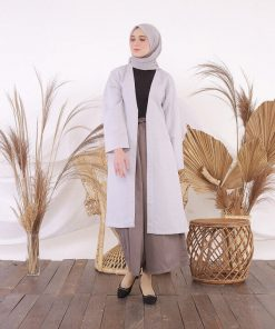 Model Cardigan Panjang - Delia Hijab - Nibras Inspire Outer