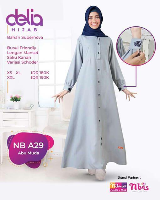 Gamis Nibras Terbaru - Delia Hijab - NB A29