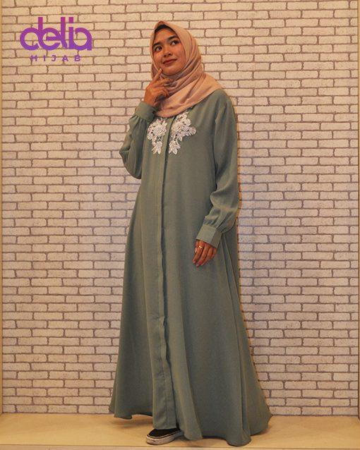 Gamis Casual - Delia Hijab - Gamis Brokat