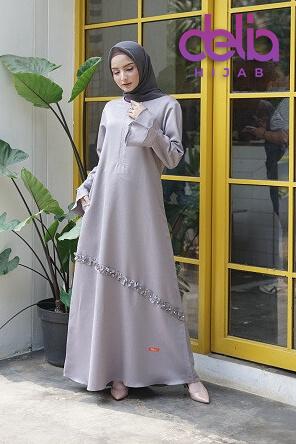 Gamis Polos Terbaru - Delia Hijab - Nibras NBs 001