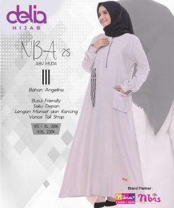 Baju Gamis Terbaru - Delia Hijab - Nibras NBA 28