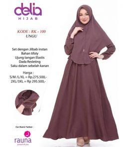 Setelan Gamis Polos - Baju Gamis Syar'i - Delia Hijab - Rauna RK-100