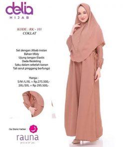 Setelan Gamis Polos - Baju Gamis Syar'i - Delia Hijab - Rauna RK-101