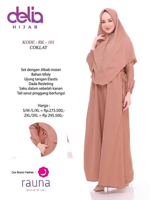 Setelan Gamis Polos Delia Hijab Rauna Rk 101 Delia Hijab