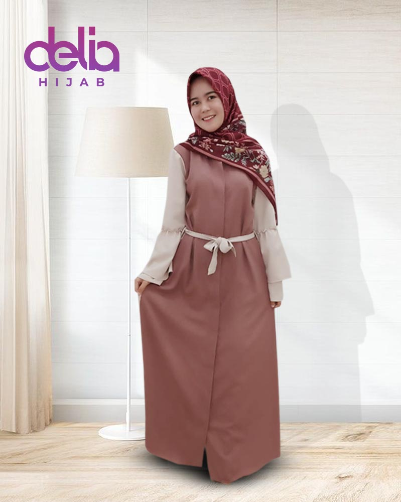 Baju Gamis Modern Nabil Dress Delia Hijab Delia Hijab