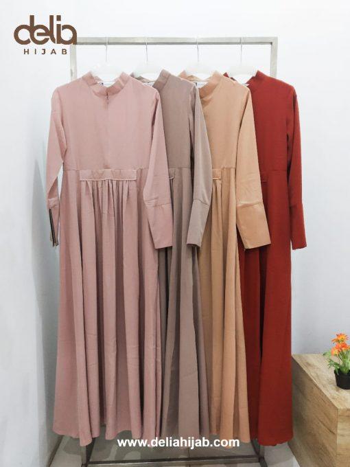 Baju Gamis Terbaru 2020 - Amelia Dress - Delia Hijab