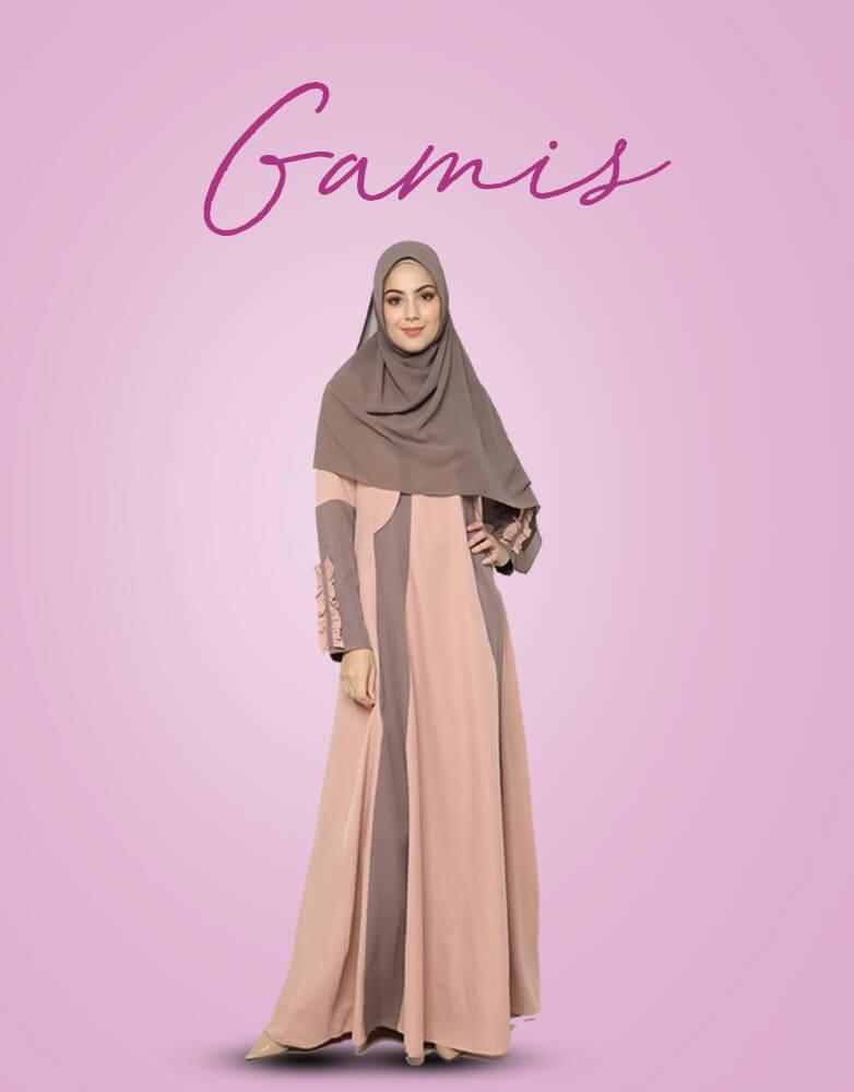 Delia Hijab - Baju Gamis Modern - Baju Muslim Casual -