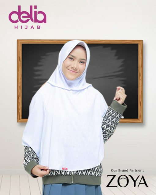 HARBOLNAS 12.12 Delia Hijab - Kerudung Sekolah Bundling 100/3 - Kerudung Zoya - Kerudung Sukses Zoya - Kerudung Ceria Zoya