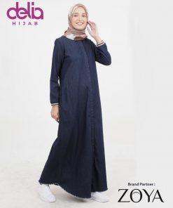Jual Online Baju Muslim Casual - Dress Zoya Terbaru delia Hijab - Vorca Dress