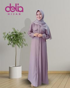 Model Gamis Terbaru 2020 - Sherin Dress - Delia Hijab - M