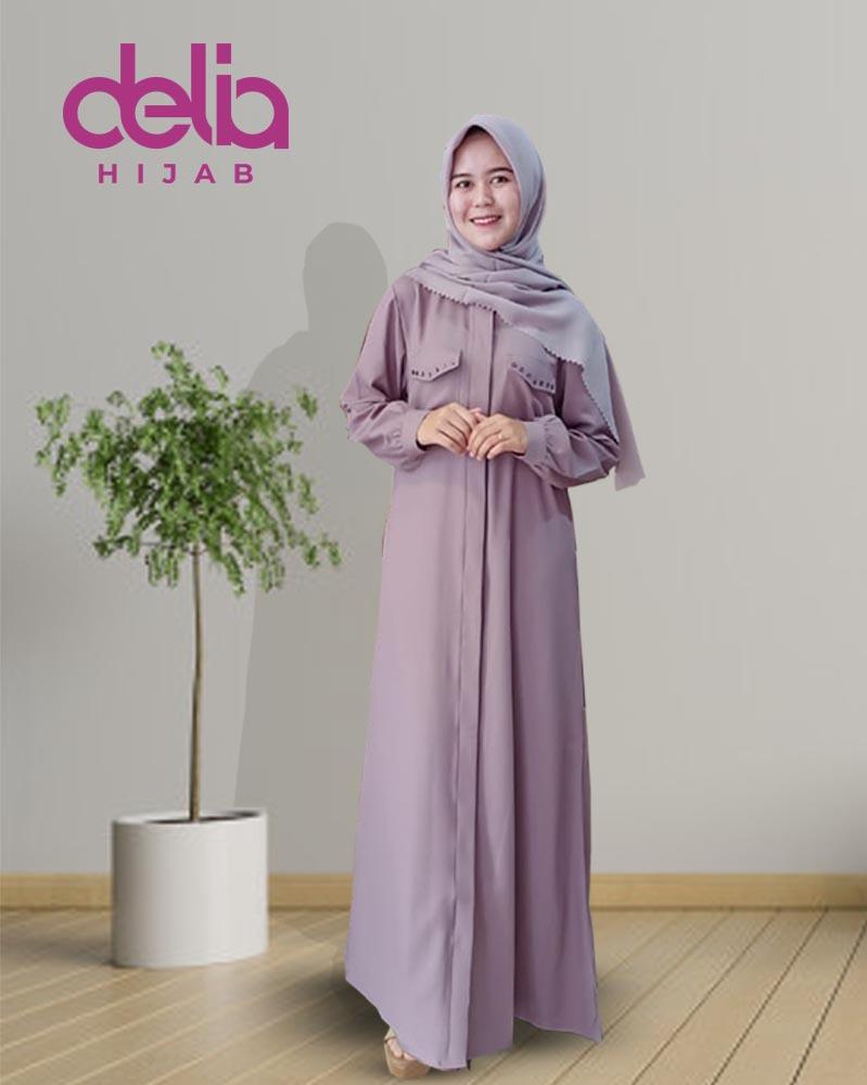 Model Gamis Terbaru 10 - Natalia Dress - Delia Hijab