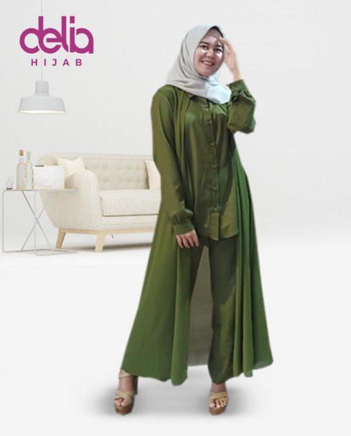 Baju Muslim Casual - Baju Gamis Modern - Baju Gamis Murah dan Cantik - Baju Gamis Model Sekarang - Delia Hijab Sukabumi - Casandra Set - G