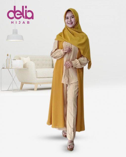 Baju Muslim Casual - Baju Gamis Modern - Baju Gamis Murah dan Cantik - Baju Gamis Model Sekarang - Delia Hijab Sukabumi - Casandra Set - Y